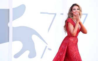 """VENICE, ITALY - SEPTEMBER 03: Madalina Ghenea walks the red carpet ahead of the movie """"Amants"""" at the 77th Venice Film Festival at  on September 03, 2020 in Venice, Italy. (Photo by Daniele Venturelli/WireImage,)"""