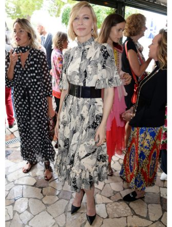 VENICE, ITALY - SEPTEMBER 01:  Cate Blanchett attends a luncheon with Chopard to launch the Green Carpet Fashion Awards 2018 on September 1, 2018 in Venice, Italy.  (Photo by David M. Benett/Dave Benett/Getty Images for Eco-Age)