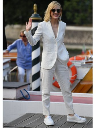 VENICE, ITALY - AUGUST 31: Cate Blanchett is seen arriving at the 76th Venice Film Festival on August 31, 2019 in Venice, Italy. (Photo by Jacopo Raule/GC Images,)