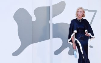 """VENICE, ITALY - SEPTEMBER 02:  Cate Blanchett walks the red carpet ahead of the Opening Ceremony and the """"Lacci"""" red carpet during the 77th Venice Film Festival at  on September 02, 2020 in Venice, Italy. (Photo by Stefania D'Alessandro/WireImage,)"""
