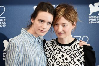 VENICE, ITALY - SEPTEMBER 10:  Actresses  Stacy Martin (L) and Alba Rohrwacher attend a photocall for 'Taj Mahal' during the 72nd Venice Film Festival at Palazzo del Casino on September 10, 2015 in Venice, Italy.  (Photo by Ian Gavan/Getty Images)