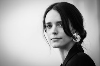 VENICE, ITALY - SEPTEMBER 04: (EDITORS NOTE: Image has been converted to black and white) Stacy Martin attends 'Vox Lux' photocall during the 75th Venice Film Festival at Sala Casino on September 4, 2018 in Venice, Italy.  (Photo by Franco Origlia/Getty Images)