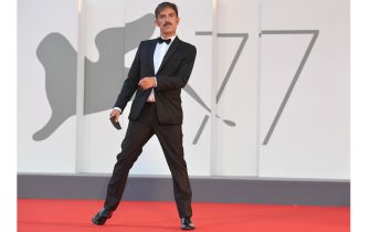 """Italian director Claudio Noce arrives for the screening of the film """"Padrenostro"""" presented in competition on the third day of the 77th Venice Film Festival, on September 4, 2020 at Venice Lido, during the COVID-19 infection, caused by the novel coronavirus. (Photo by Tiziana FABI / AFP) (Photo by TIZIANA FABI/AFP via Getty Images)"""