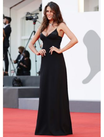 """VENICE, ITALY - SEPTEMBER 04: Francesca Sofia Novello walks the red carpet ahead of the movie """"Padrenostro"""" at the 77th Venice Film Festival at  on September 04, 2020 in Venice, Italy. (Photo by Vittorio Zunino Celotto/Getty Images)"""