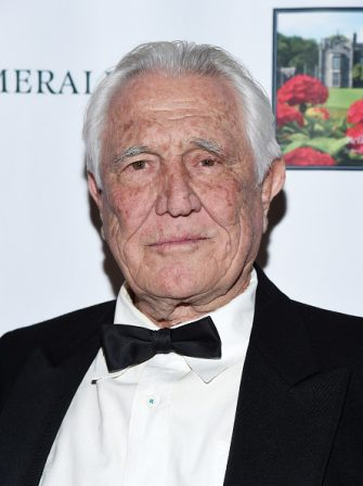HOLLYWOOD, CALIFORNIA - FEBRUARY 09: Actor George Lazenby attends the 5th Annual Roger Neal and Maryanne Lai Oscar Viewing Dinner-Icon Awards and After Party at The Hollywood Museum on February 09, 2020 in Hollywood, California. (Photo by Amanda Edwards/Getty Images)