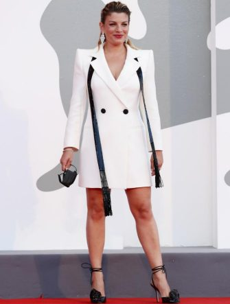 """VENICE, ITALY - SEPTEMBER 05: Emma Marrone walks the red carpet ahead of the movie """"Miss Marx"""" at the 77th Venice Film Festival on September 05, 2020 in Venice, Italy. (Photo by Vittorio Zunino Celotto/Getty Images)"""