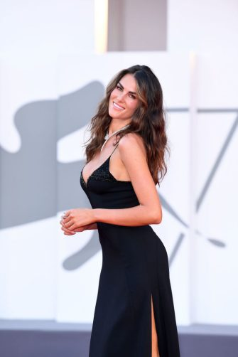 """VENICE, ITALY - SEPTEMBER 04: Francesca Sofia Novello walks the red carpet ahead of the movie """"Padrenostro"""" at the 77th Venice Film Festival at  on September 04, 2020 in Venice, Italy. (Photo by Daniele Venturelli/WireImage,)"""