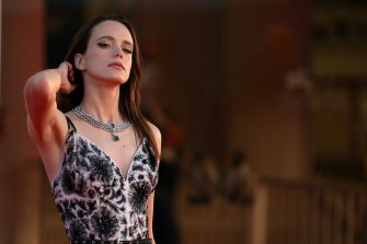 """VENICE, ITALY - SEPTEMBER 03: Stacy Martin walks the red carpet ahead of the movie """"Amants"""" at the 77th Venice Film Festival at  on September 03, 2020 in Venice, Italy. (Photo by Maria Moratti/Getty Images)"""