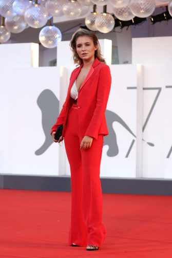 """VENICE, ITALY - SEPTEMBER 04: Noemi Brando walks the red carpet ahead of the movie """"Padrenostro"""" at the 77th Venice Film Festival at  on September 04, 2020 in Venice, Italy. (Photo by Vittorio Zunino Celotto/Getty Images)"""