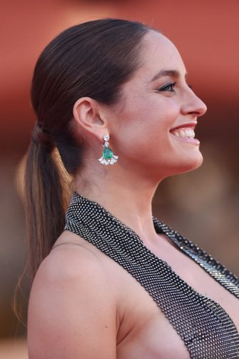 """VENICE, ITALY - SEPTEMBER 05:  Matilde Gioli walks the red carpet ahead of the movie """"Miss Marx"""" at the 77th Venice Film Festival on September 05, 2020 in Venice, Italy. (Photo by Stefania D'Alessandro/WireImage,)"""