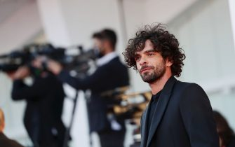"VENICE, ITALY - SEPTEMBER 09: Giovanni Anzaldo walks the red carpet ahead of the movie ""Le Sorelle Macaluso"" at the 77th Venice Film Festival on September 09, 2020 in Venice, Italy. (Photo by Vittorio Zunino Celotto/Getty Images)"
