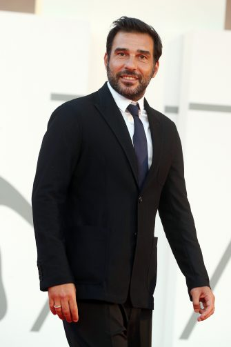 """VENICE, ITALY - SEPTEMBER 10: Edoardo Leo walks the red carpet ahead of the movie """"Nuevo Orden"""" (New Order) at the 77th Venice Film Festival on September 10, 2020 in Venice, Italy. (Photo by Elisabetta Villa/Getty Images)"""