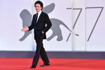 """Mexican director Michel Franco arrives for the screening of the film """"Nuevo Orden"""" (New Order) presented in competition on the ninth day of the 77th Venice Film Festival, on September 10, 2020 at Venice Lido, during the COVID-19 infection, caused by the novel coronavirus. (Photo by Tiziana FABI / AFP) (Photo by TIZIANA FABI/AFP via Getty Images)"""