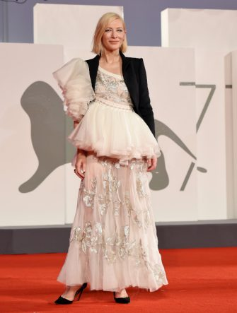 "VENICE, ITALY - SEPTEMBER 08:  Cate Blanchett walks the red carpet ahead of the movie ""Di Yi Lu Xiang"" (Love After Love) at the 77th Venice Film Festival on September 08, 2020 in Venice, Italy. (Photo by Stefania D'Alessandro/WireImage)"