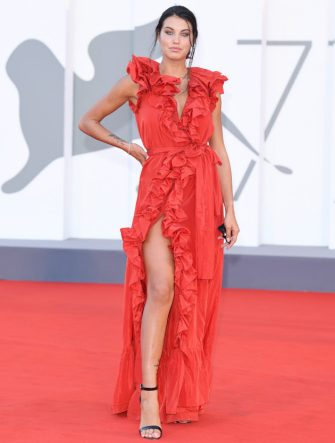 "VENICE, ITALY - SEPTEMBER 09: Carolina Stramare walks the red carpet ahead of the movie ""Le Sorelle Macaluso"" at the 77th Venice Film Festival on September 09, 2020 in Venice, Italy. (Photo by Daniele Venturelli/WireImage)"