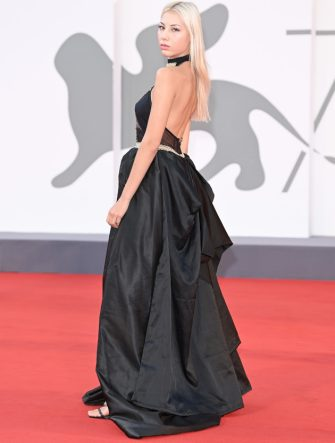 "VENICE, ITALY - SEPTEMBER 10: Doris De Palo walks the red carpet ahead of the movie ""Nuevo Orden"" (New Order) at the 77th Venice Film Festival on September 10, 2020 in Venice, Italy. (Photo by Daniele Venturelli/WireImage)"