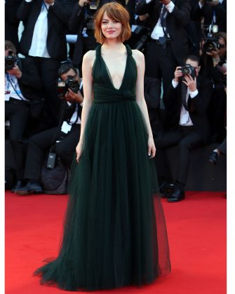 VENICE, ITALY - AUGUST 27:  Emma Stone attends the 'Birdman' Premiere during the 71st Venice Film Festival on August 27, 2014 in Venice, Italy.  (Photo by Franco Origlia/Getty Images)