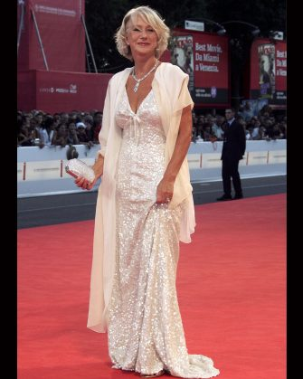 VENICE, ITALY - SEPTEMBER 02:  Actress Helen Mirren  attends the premiere of the film 'The Queen' during the fourth day of the 63rd Venice Film Festival on September 2, 2006 in Venice, Italy.  (Photo by Pascal Le Segretain/Getty Images)