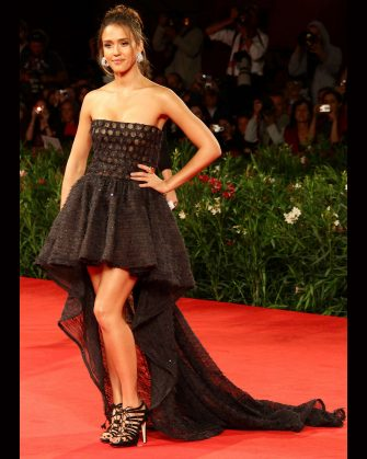 VENICE, ITALY - SEPTEMBER 01:  Jessica Alba attends Lancia on the Red Carpet at the 67th Venice Film Festival at Palazzo del Cinema on September 1, 2010 in Venice, Italy.  (Photo by Vittorio Zunino Celotto/Getty Images)