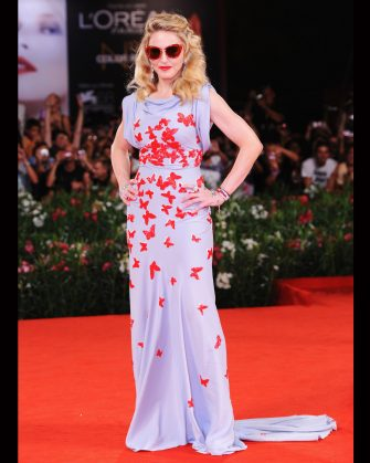 """VENICE, ITALY - SEPTEMBER 01:  Madonna attends the """"W.E."""" premiere during the 68th Venice International Film Festival at Palazzo del Cinema on September 1, 2011 in Venice, Italy.  (Photo by Venturelli/WireImage)"""