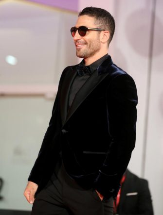 """VENICE, ITALY - SEPTEMBER 11: Miguel Ángel Silvestre walks the red carpet ahead of the movie """"30 Monedas"""" (30 Coins) - Episode 1 at the 77th Venice Film Festival on September 11, 2020 in Venice, Italy. (Photo by Elisabetta Villa/Getty Images)"""