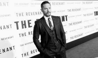 "HOLLYWOOD, CA - DECEMBER 16:  (EDITORS NOTE: Image taken in B\W not available in Color).Actor Tom Hardy arrives at the Premiere Of 20th Century Fox And Regency Enterprises' ""The Revenant"" at TCL Chinese Theatre on December 16, 2015 in Hollywood, California.  (Photo by Frazer Harrison/Getty Images)"