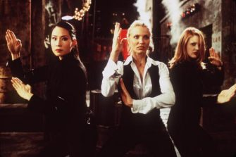"381311 01: Lucy Liu (Alex), Cameron Diaz (Natalie) and Drew Barrymore (Dylan), left to right, star as a trio of elite private investigators in Columbia Pictures'' action-comedy, ""Charlie''s Angels."" (Photo by Columbia Pictures/Newsmakers)"