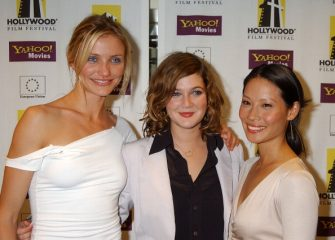 Cameron Diaz, Drew Barrymore & Lucy Liu during Hollywood Film Festival's Hollywood Movie Awards - Arrivals & Backstage at Beverly Hilton Hotel in Beverly Hills, California, United States. (Photo by Gregg DeGuire/WireImage)