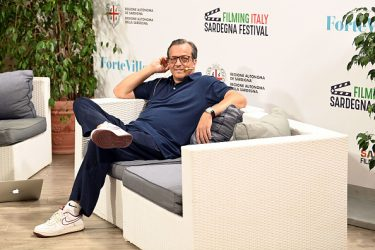 SANTA MARGHERITA DI PULA, ITALY - JULY 25: Gabriele Muccino attend  Filming Italy Sardegna Festival 2020 Day 4 Press Conference at Forte Village Resort on July 25, 2020 in Santa Margherita di Pula, Italy. (Photo by Daniele Venturelli/Daniele Venturelli/Getty Images )