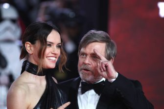 LONDON, ENGLAND - DECEMBER 12:  Daisy Ridley and Mark Hamill attend the European Premiere of 'Star Wars: The Last Jedi' at Royal Albert Hall on December 12, 2017 in London, England.  (Photo by Mike Marsland/Mike Marsland/WireImage)