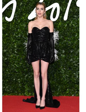 LONDON, ENGLAND - DECEMBER 02: Emma Roberts attends The Fashion Awards 2019 at the Royal Albert Hall on December 02, 2019 in London, England. (Photo by Karwai Tang/WireImage)