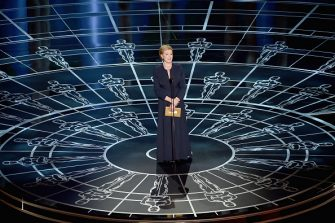 HOLLYWOOD, CA - FEBRUARY 22:  Julie Andrews speaks onstage during the 87th Annual Academy Awards at Dolby Theatre on February 22, 2015 in Hollywood, California.  (Photo by Kevin Winter/Getty Images)