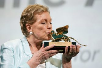 VENICE, ITALY - SEPTEMBER 02: Dame Julie Andrews is awarded the Golden Lion for Lifetime Achievement during the 76th Venice Film Festival at Sala Grande on September 02, 2019 in Venice, Italy. (Photo by Daniele Venturelli/Venturelli Daniele/WireImage, )
