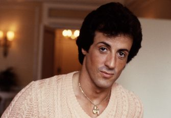 American actor Sylvester Stallone, London, 1982. (Photo by Michael Putland/Getty Images)