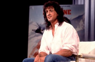 Actor Sylvester Stallone appears as a guest on the Oprah Winfrey Show in Los Angeles, California, April 23, 1988. (Photo by Paul Natkin/Getty Images)