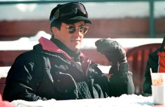 Actor Sylvester Stallone during a skiing trip, circa 1992. (Photo by Kypros/Getty Images)