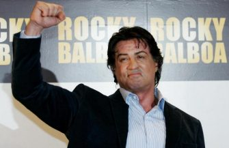 """Rome, ITALY:  Actor and director Sylvester Stallone arrives at the Italian premiere of the film """"Rocky Balboa"""" at Auditorium Conciliazione 09 January 2007, in Rome. AFP Photo / Tiziana Fabi  (Photo credit should read TIZIANA FABI/AFP via Getty Images)"""