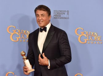 BEVERLY HILLS, CA - JANUARY 10:  Actor Sylvester Stallone, winner of Best Supporting Performance in a Motion Picture for 'Creed,' poses in the press room during the 73rd Annual Golden Globe Awards held at the Beverly Hilton Hotel on January 10, 2016 in Beverly Hills, California.  (Photo by Kevin Winter/Getty Images)