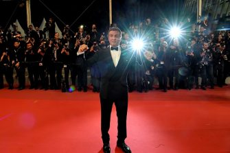 """US actor Sylvester Stallone poses as he arrives for the screening of """"Homage to Sylvester Stallone - Rambo : Last Blood"""" at the 72nd edition of the Cannes Film Festival in Cannes, southern France, on May 24, 2019. (Photo by LOIC VENANCE / AFP)        (Photo credit should read LOIC VENANCE/AFP via Getty Images)"""