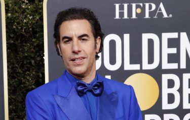 epa08106031 Sacha Baron Cohen arrives for the 77th annual Golden Globe Awards ceremony at the Beverly Hilton Hotel, in Beverly Hills, California, USA, 05 January 2020.  EPA/NINA PROMMER
