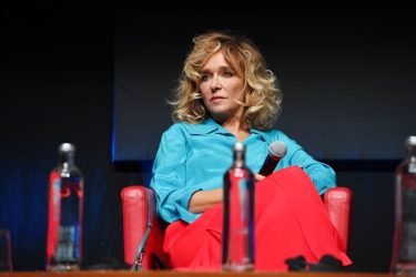 "ROME, ITALY - OCTOBER 19: Valeria Golino attends the ""Fortuna"" Press Conference during the 15th Rome Film Festival on October 19, 2020 in Rome, Italy. (Photo by Stefania M. D'Alessandro/Getty Images for RFF)"
