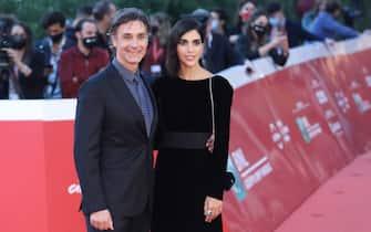 """Roma Cinema Fest 2020. Festa del Cinema di Roma. Red carpet film """"Calabria, terra mia"""". Pictured: Raoul Bova con la compagna Rocio Munoz Morales"""