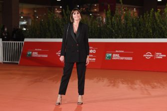 """ROME, ITALY - OCTOBER 21:  Director Elisa Amoruso attends the red carpet of the movie """"Maledetta Primavera""""  during the 15th Rome Film Festival on October 21, 2020 in Rome, Italy. (Photo by Daniele Venturelli/WireImage,)"""