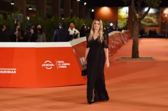"""ROME, ITALY - OCTOBER 21: Micaela Ramazzotti attends the red carpet of the movie """"Maledetta Primavera""""  during the 15th Rome Film Festival on October 21, 2020 in Rome, Italy. (Photo by Stefania M. D'Alessandro/Getty Images for RFF)"""