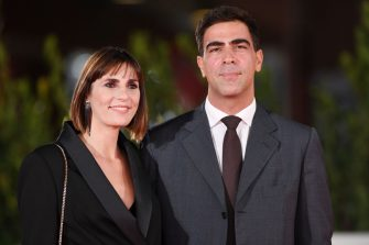 """ROME, ITALY - OCTOBER 21:  Director Elisa Amoruso and Gianluigi Zamponi attend the red carpet of the movie """"Maledetta Primavera""""  during the 15th Rome Film Festival on October 21, 2020 in Rome, Italy. (Photo by Daniele Venturelli/WireImage,)"""