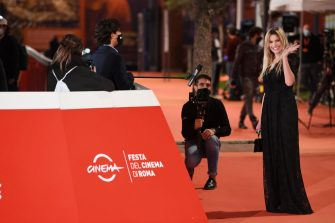 """ROME, ITALY - OCTOBER 21: Micaela Ramazzotti attends the red carpet of the movie """"Maledetta Primavera""""  during the 15th Rome Film Festival on October 21, 2020 in Rome, Italy. (Photo by Daniele Venturelli/WireImage,)"""