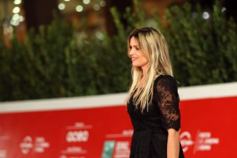 """ROME, ITALY - OCTOBER 21: Micaela Ramazzotti attends the red carpet of the movie """"Maledetta Primavera""""  during the 15th Rome Film Festival on October 21, 2020 in Rome, Italy. (Photo by Elisabetta Villa/Getty Images for RFF)"""