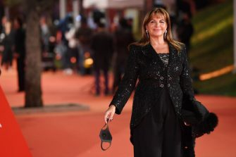 """ROME, ITALY - OCTOBER 21: Elena Bonelli attends the red carpet of the movie """"Maledetta Primavera""""  during the 15th Rome Film Festival on October 21, 2020 in Rome, Italy. (Photo by Daniele Venturelli/WireImage,)"""