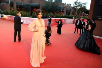 """ROME, ITALY - OCTOBER 21: Eleonora Pieroni attends the red carpet of the movie """"Maledetta Primavera""""  during the 15th Rome Film Festival on October 21, 2020 in Rome, Italy. (Photo by Elisabetta Villa/Getty Images for RFF)"""
