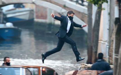 Tom Cruise a Venezia per Mission Impossible, le riprese del film. FOTO